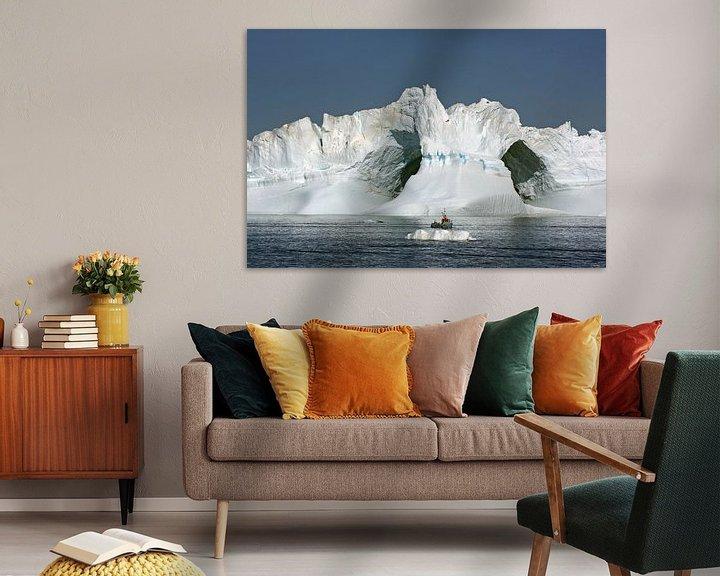 Impression: Un iceberg géant dans la baie de Disko sur Reinhard  Pantke