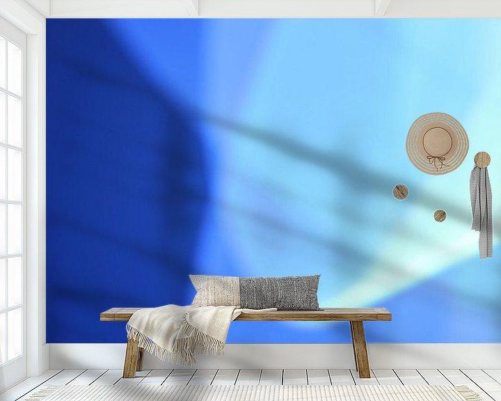 Sfeerimpressie behang: Blauw Licht (licht) van Sander de Jong