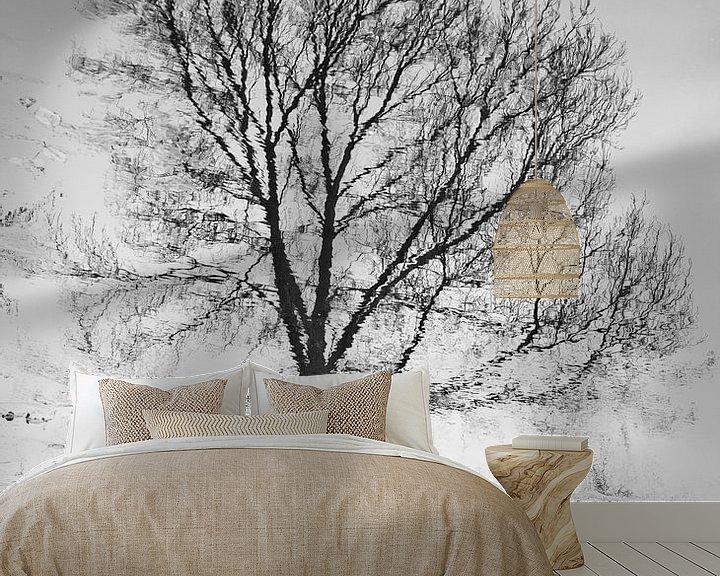 Sfeerimpressie behang: Winter wandeling van Richard van den Hoek