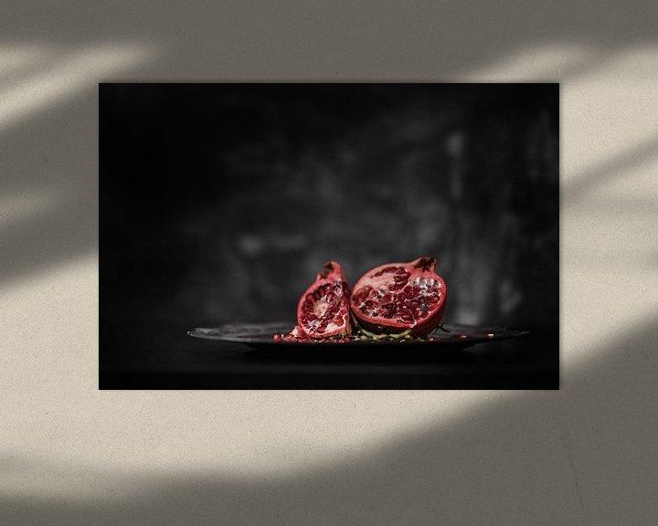Sfeerimpressie: Stilleven Granaatappel van Steven Dijkshoorn