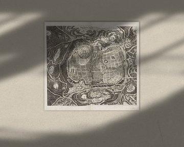 Jerusalem, Karte, BIBLIA GERMANICA, 1686 von Atelier Liesjes