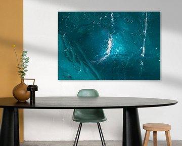 blauw ijs van Thomas Jäger