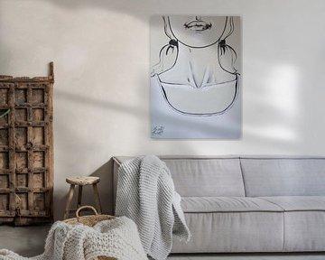 Girl in white shirt von Petra Kaindel