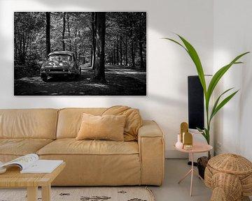 Citroën DS 23 Pallas zwart-wit van Wim Schuurmans