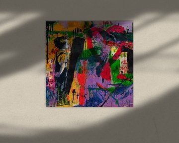 Hommage Banksy - Love - Abstrakt Game