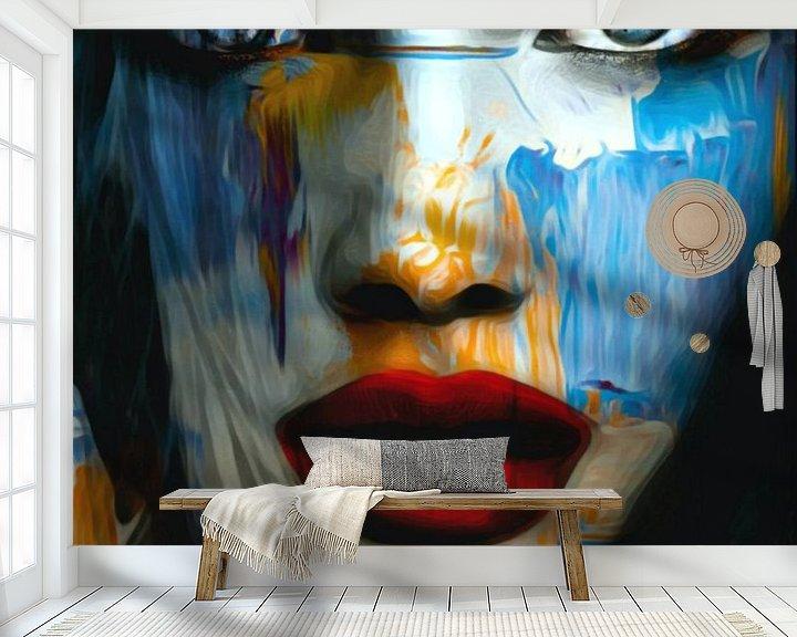 Sfeerimpressie behang: Gewoon gezicht - abstract spel - 899 van Felix von Altersheim