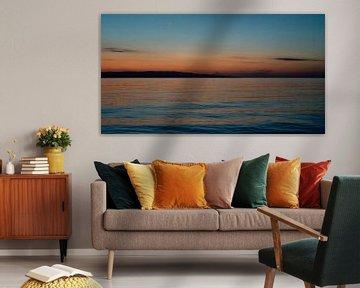 Panorama zonsondergang van Ellis Peeters