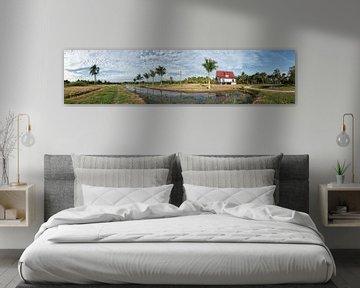 Panorama van Frederiksdorp te Suriname