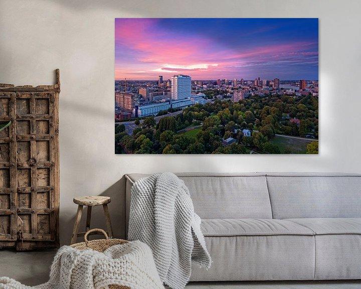 Sfeerimpressie: Pink and blue / Rotterdam / Euromast van Rob de Voogd / zzapback