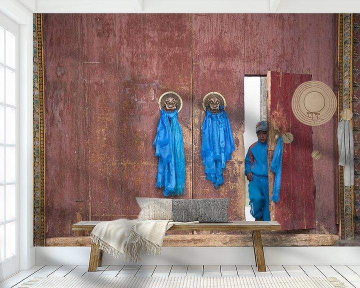 Sfeerimpressie behang: deur van Anne-Marie Vermaat