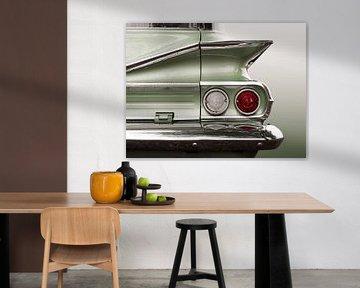 Amerikaanse klassieke auto 1960 Park Wood van Beate Gube