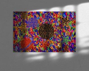 Geometrische Kunst des farbigen Universums von EL QOCH