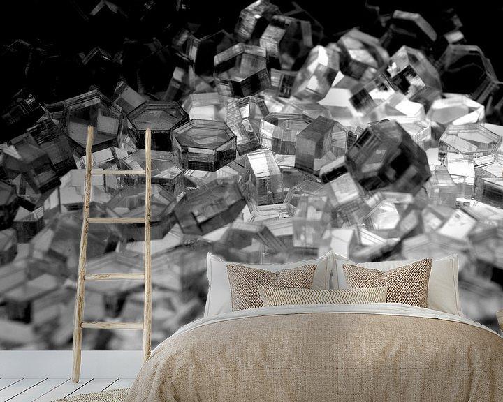 Beispiel fototapete: Serie Hexagon - Kristall Licht von WijlensAanDeWand