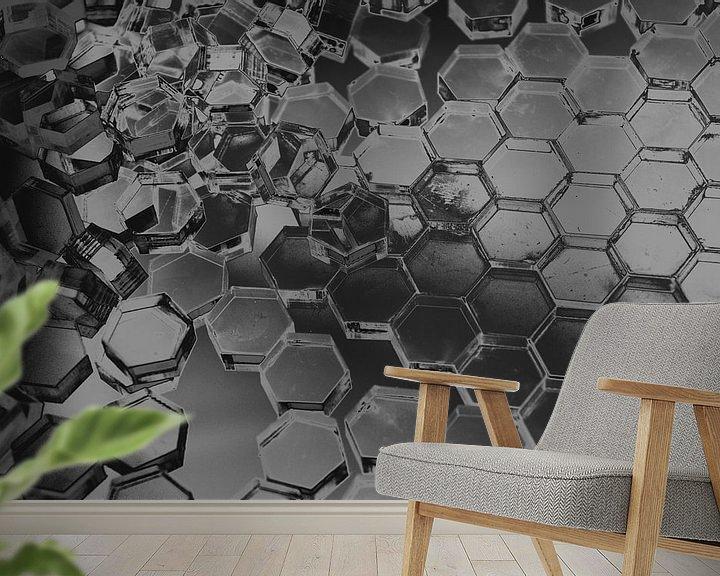 Beispiel fototapete: Hexagon-Serie - Vom Chaos zur Ordnung von WijlensAanDeWand