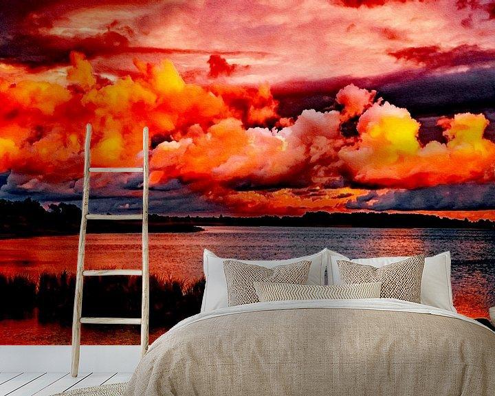 Beispiel fototapete: Sonnenuntergang - Abendstimmung am Wasser von Max Steinwald
