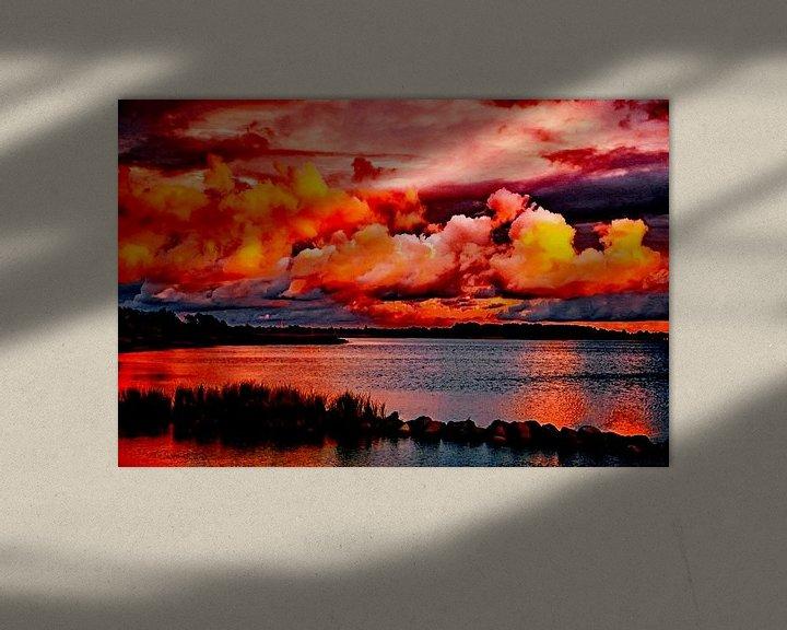 Beispiel: Sonnenuntergang - Abendstimmung am Wasser von Max Steinwald