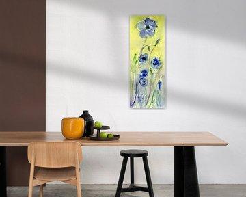 blaue Mohnblumen von Claudia Gründler