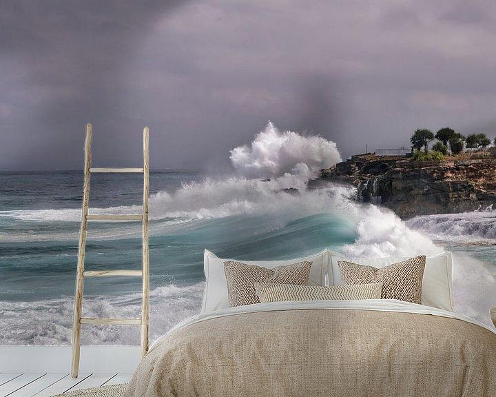Sfeerimpressie behang: ruwe golven van Ronenvief