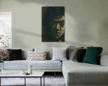 Zelfportret van Jan Toorop