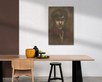 Zelfportret van de schilder Jan Toorop, Jan Toorop, 1882
