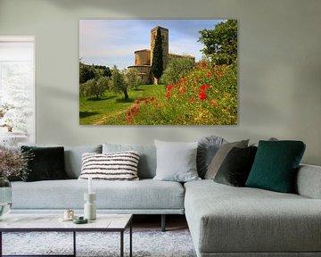 Sant'Antimo Abdij, Toscane, Italië