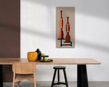 Peach Wine Antique Bottles von Annaluiza Dovinos