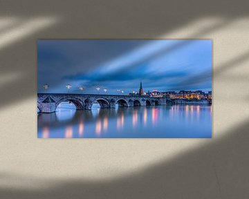 St.Servaos Brögk - Mestreech - St.Servaas Brücke, Maastricht in der blauen Stunde