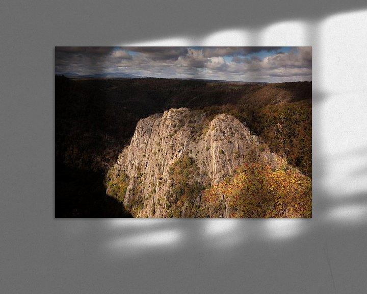 Sfeerimpressie: Roßtrappe, Rocks, Brocken, Bodetal, Thale; Harz Mountains van Torsten Krüger