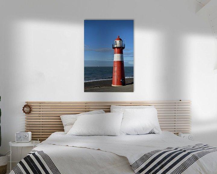 Impression: Phare de Westkapelle sur la côte de la mer du Nord en Zélande sur Robin Verhoef