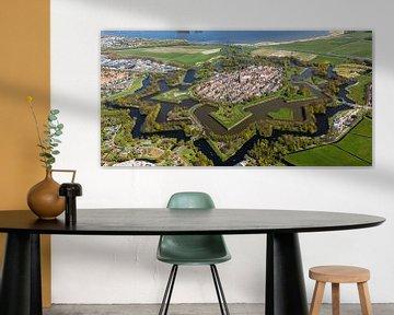 Luchtfoto Naarden Vesting van aerovista luchtfotografie