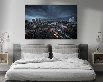 Schelfwolke über Rotterdam von Anthony Malefijt