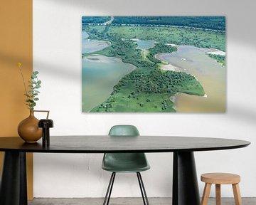 Luchtfoto groene Oostvaardersplassen van aerovista luchtfotografie
