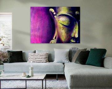 Boeddha - De Magenta One van Michael Ladenthin
