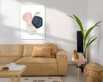Moderne Aquarellmalerei mit abstrakten Formen von Diana van Tankeren