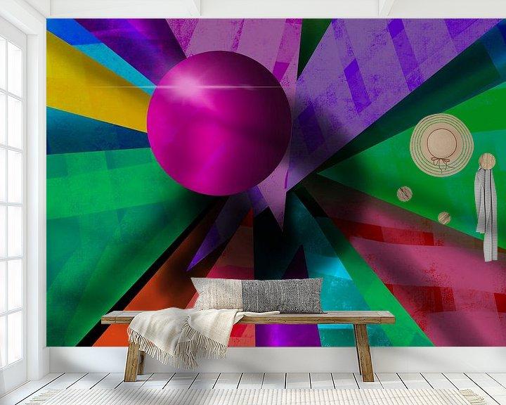 Beispiel fototapete: 3D Rosa Kugel Abstrakt von Patricia Piotrak