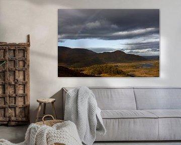 Uitzicht over vallei in Ierland van Hannon Queiroz