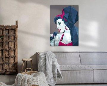 Diamant-Stil Amy Winehouse Poster von Jasper Boekema
