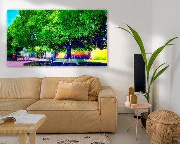 Stadtbaum mit Bank von Digital Art Nederland