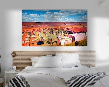 Leere Strandstühle von Digital Art Nederland
