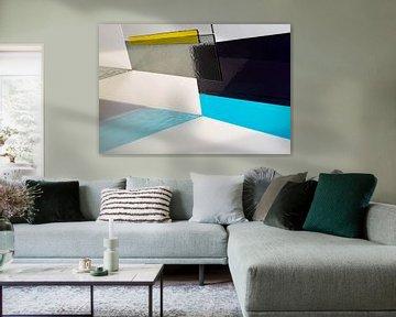 getönter grafischer Glasdruck von Francisca Snel