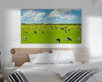 Kühe auf der Wiese von Digital Art Nederland