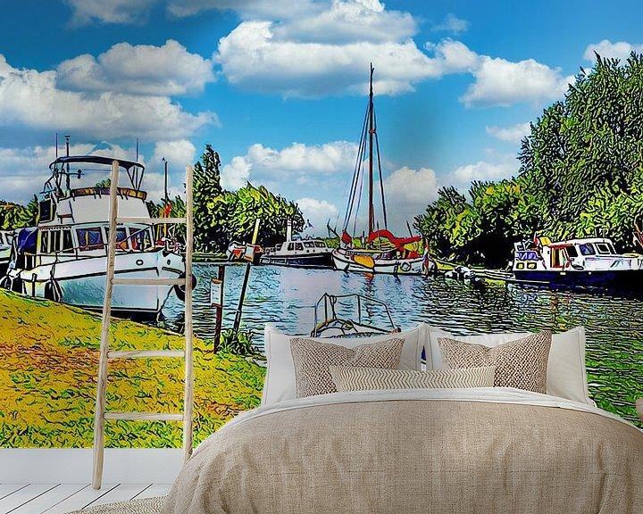 Beispiel fototapete: Erholungshafen Alkmaardermeer von Digital Art Nederland