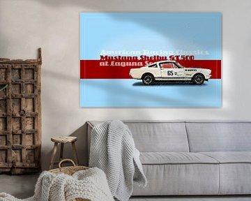 Shelby Mustang at Laguna Seca von Theodor Decker