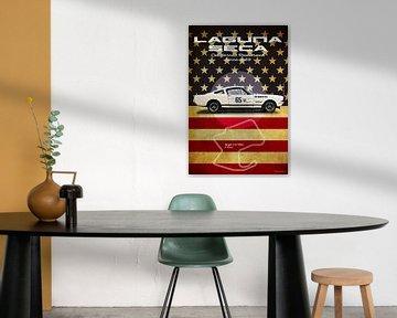 Laguna Seca Shelby Mustang Vintage von Theodor Decker