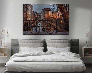 Utrechtse gracht in de avond