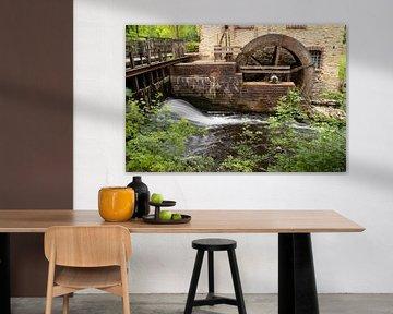 Het waterrad van een oude molen van Jörg Sabel - Fotografie