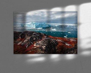 IJsrots voor de kust van Disko Bay (Diskobaai) van Martijn Smeets