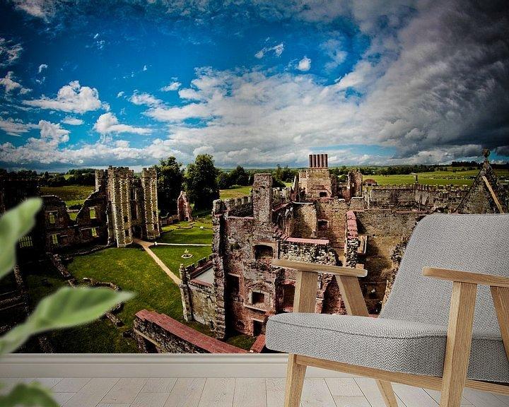 Sfeerimpressie behang: Cowdray Castle van PJG Design