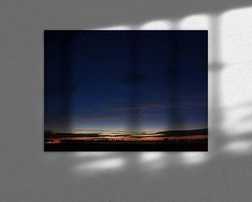 Komeet Neowise in de nacht van Piet Kooistra