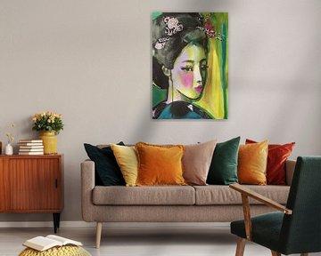 Spitzen-Look von Helia Tayebi Art